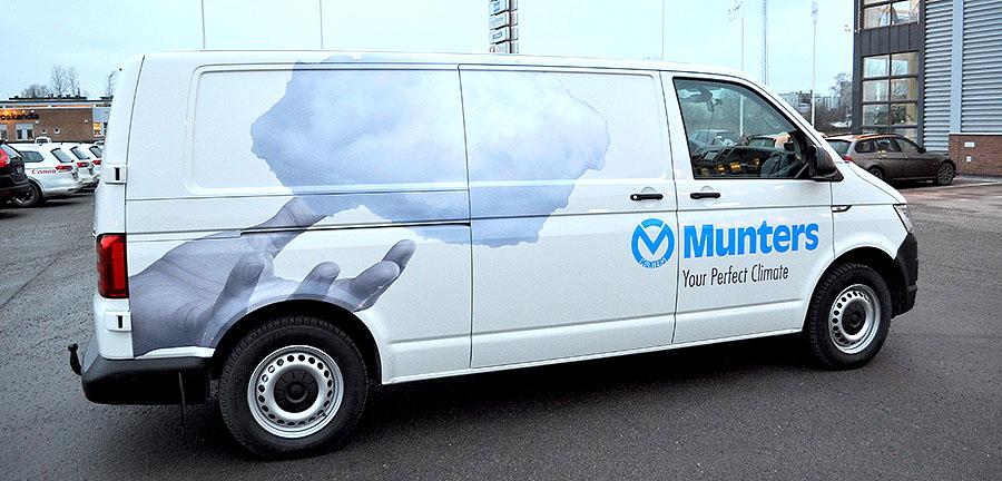 Munters nydesignade bilar rullar ut